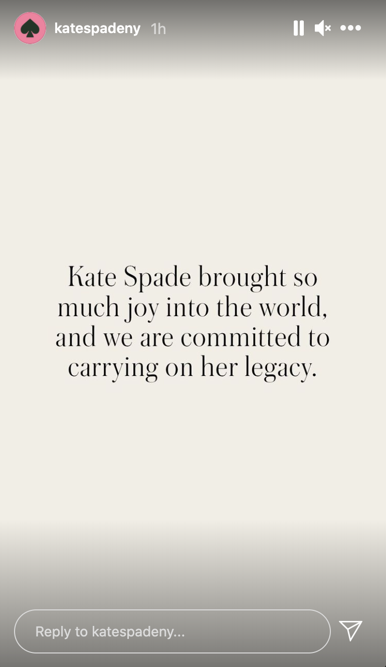 Kate Spade paid tribute to its iconic founder who died by suicide in 2018. (Screenshot: Instagram/KateSpadeNY)
