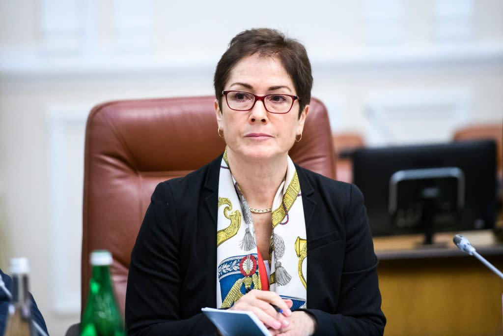 Former U.S. Ambassador to Ukraine Marie Yovanovitch during a meeting with former Prime Minister of Ukraine Volodymyr Groysman Kyiv, on Nov. 12, 2018 | NurPhoto—NurPhoto via Getty Images