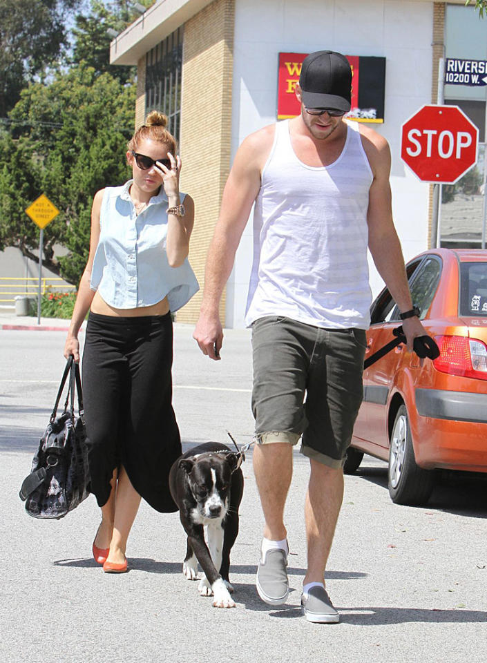"Miley Cyrus is ""peeling off pounds"" to ""lure Liam Hemsworth into popping the question,"" reports the <i>National Enquirer.</i> The mag says Cyrus is convinced Hemsworth will propose if she loses more weight. For why she's been led to believe being skinny is the key to a proposal, and how many more pounds Cyrus's willing to shed, click over to <a target=""_blank"" href=""http://www.gossipcop.com/miley-cyrus-weight-loss-liam-hemsworth-proposal-engagement/"">Gossip Cop</a>."