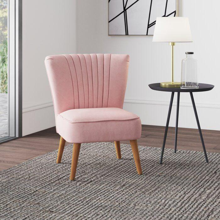 """<p>Wayfair - £139.99</p><p><a class=""""link rapid-noclick-resp"""" href=""""https://go.redirectingat.com?id=127X1599956&url=https%3A%2F%2Fwww.wayfair.co.uk%2Ffurniture%2Fpdp%2Fhykkon-audrey-cocktail-chair-u003011857.html%3Fpiid%3D1630427140&sref=https%3A%2F%2Fwww.elle.com%2Fuk%2Flife-and-culture%2Fg35971143%2Fsmall-bedroom-chairs%2F"""" rel=""""nofollow noopener"""" target=""""_blank"""" data-ylk=""""slk:SHOP NOW"""">SHOP NOW</a></p><p>Adding pizzazz to any room, the Audrey chair is not only fun but comfortable and lightweight.</p>"""