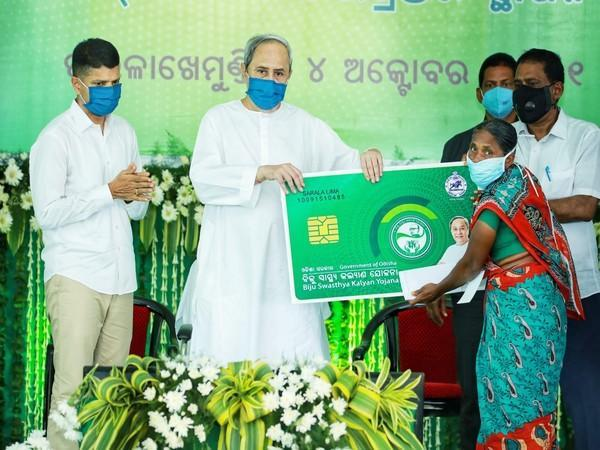 Chief Minister of Odisha, Naveen Patnaik, during the launch of Smart Health Card (Photo:ANI)