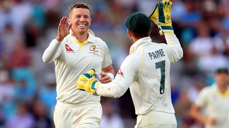 Peter Siddle, pictured here celebrating a wicket during the fifth Ashes Test.
