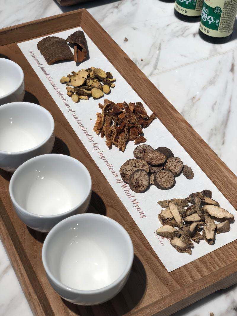 The five herbs used in formulating Whal Myung skincare. (PHOTO: Sheila/Chiang/Yahoo Lifestyle Singapore)