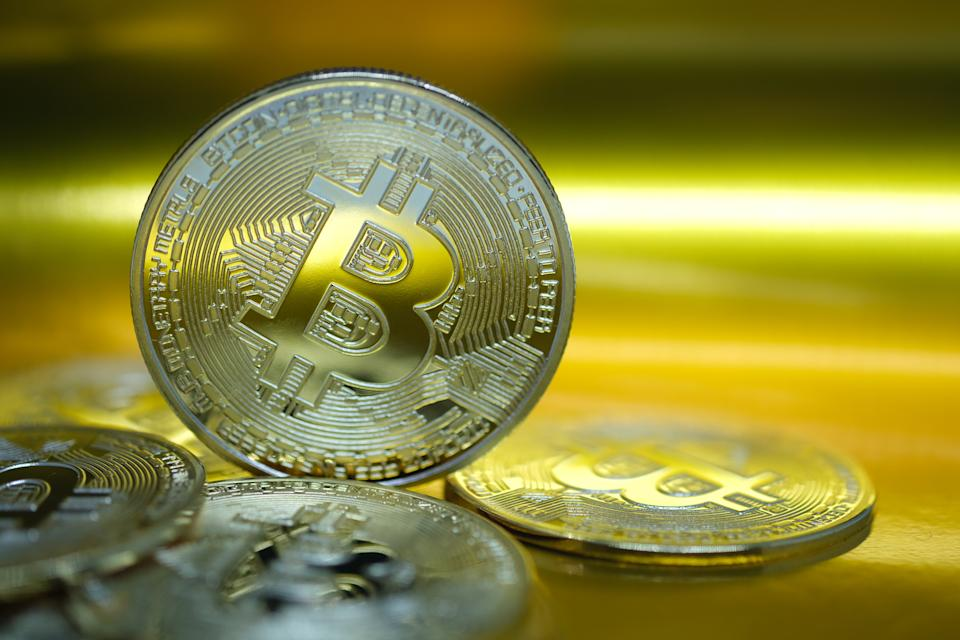 KATWIJK, NETHERLANDS - JANUARY 4: In this photo illustration, visual representations of the digital cryptocurrency, Bitcoin are arranged on January 4, 2021 in Katwijk, Netherlands.  (Photo by Yuriko Nakao/Getty Images)