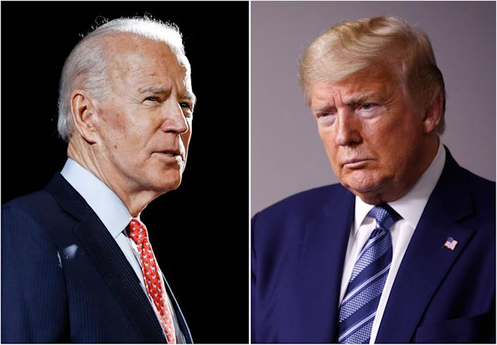 Former Vice President Joe Biden and President Donald Trump are on opposite sides of the vote-by-mail debate.