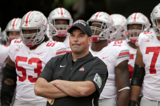 Head coach Ryan Day and Ohio State are big favorites to win the Big Ten East. (AP Photo/Nati Harnik)