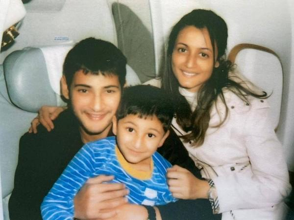 Throwback image of Mahesh Babu, his wife and son (Image source: Instagram)