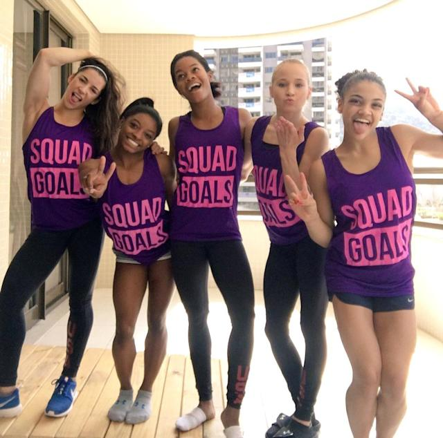 <p>The shirts say it all. (@Simone_Biles/Twitter) </p>