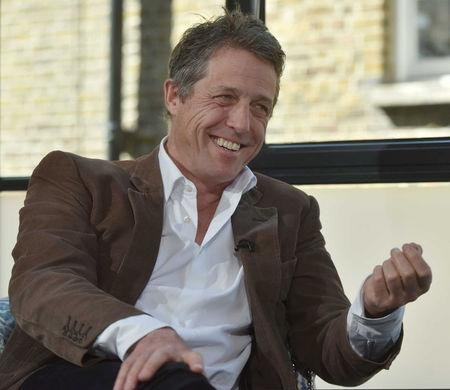 Actor Hugh Grant is seen being interviewed for the BBC's Andrew Marr Show, in this undated photograph received via the BBC, in London, Britain May 13, 2018.  Jeff Overs/BBC/Handout via REUTERS