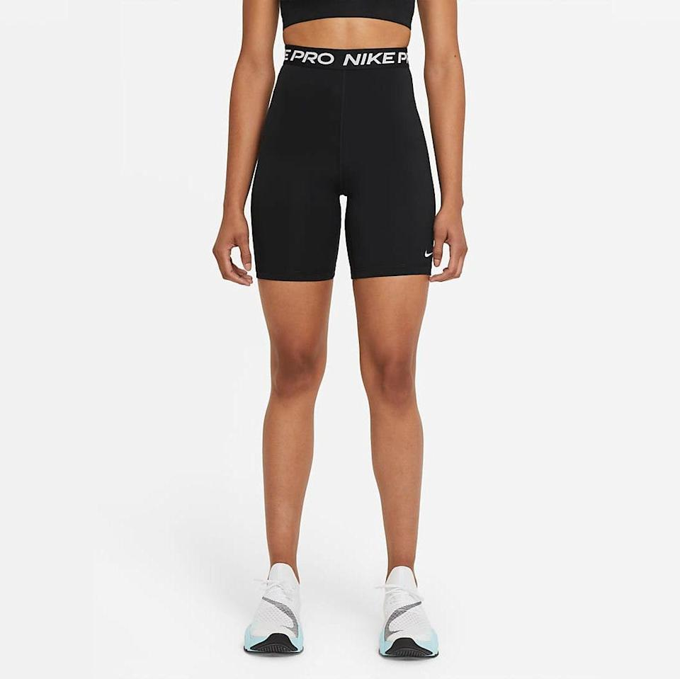 """""""These are the shorts I always wear on really long runs, like 10-plus miles. I live in D.C. and it's incredibly hot in the summer, and these are just perfect—they're sweat-wicking and feature a seam at the bottom so they don't ride up. I love the price point—I buy a new pair every summer they're so affordable!"""" - <em>W.C.</em> $35, Nike. <a href=""""https://www.nike.com/t/pro-365-womens-high-rise-7-shorts-fHfcRh/DA0481-011"""" rel=""""nofollow noopener"""" target=""""_blank"""" data-ylk=""""slk:Get it now!"""" class=""""link rapid-noclick-resp"""">Get it now!</a>"""