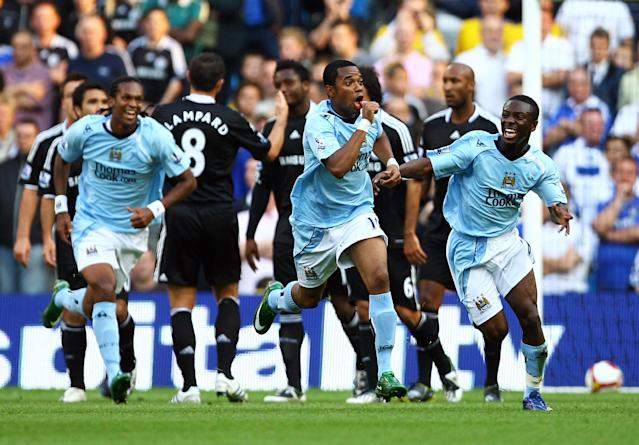 Robinho marked his debut against Chelsea with a stunning goal, too