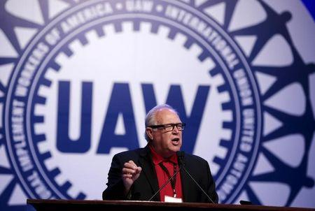 UAW President Dennis Williams addresses their Special Bargaining Convention held at COBO Hall in Detroit
