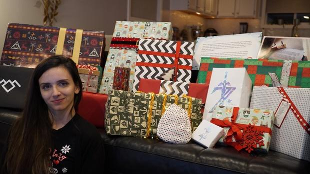 Shelby received 36kgs of gifts from Bill Gates, through RedditGifts, the same year her mother passed away 10 days before her wedding. Source: RedditGifts/szor