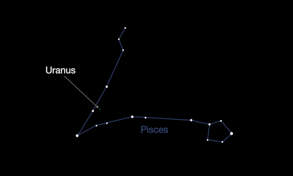 "<img alt=""""/><p>This week, you can look to the night sky to see the butt of every planetary joke. </p> <p>Make your way to a relatively dark, light pollution-free area to see the planet Uranus high in the sky, glowing a blue-ish, green color in the constellation Pisces, according to NASA. </p> <div><p>SEE ALSO: <a rel=""nofollow"" href=""http://mashable.com/2012/04/14/uranus-auroras-spotted/?utm_campaign=Mash-BD-Synd-Yahoo-Science-Full&utm_cid=Mash-BD-Synd-Yahoo-Science-Full"">Uranus Auroras Spotted by Hubble Telescope Scientists </a></p></div> <p>Tonight will likely be your best chance to see the gaseous, outer planet because it's reached opposition, meaning the Earth will be between Uranus and the sun. </p> <p><img title=""Uranus in the constellation Pisces."" alt=""Uranus in the constellation Pisces.""></p> <p>Uranus in the constellation Pisces.</p><div><p>Image:  nasa/jpl-caltech</p></div><p>""It's visible all night long and its blue-green color is unmistakeable,"" NASA <a rel=""nofollow"" href=""https://www.jpl.nasa.gov/video/details.php?id=1503"">said in a video</a> about the skywatching event. ""It may be bright enough to see with your naked eye — and for sure in binoculars.""</p> <p>It's a special thing to be able to see Uranus. </p> <p>The planet doesn't usually shine very brightly when it's visible in the night sky, so take the opportunity to check it out in all its glory during opposition. </p> <p>Uranus is a weird world. </p> <div><p></p></div>  <p>The cold gas planet has more than a dozen rings and 27 known moons orbiting it. And strangely enough, the planet is rotated on its side, probably due to a giant impact early in its history, <a rel=""nofollow"" href=""https://solarsystem.nasa.gov/planets/uranus/indepth"">according to NASA</a>.</p> <p>Uranus isn't the only celestial sight to check out this month either. </p> <p>Saturn will be near the moon on Oct. 23 and Oct. 24, and the Orionid meteor shower peaks on Friday. </p> <p>""Look near Orion's club in the hours before dawn and you may see up to 10 to 15 meteors per hour,"" NASA said.</p> <div> <h2><a rel=""nofollow"" href=""http://mashable.com/2017/10/19/human-made-earth-bubble/?utm_campaign=Mash-BD-Synd-Yahoo-Science-Full&utm_cid=Mash-BD-Synd-Yahoo-Science-Full"">WATCH: The Earth is surrounded by human-made bubble</a></h2> <div> <p><img alt=""Https%3a%2f%2fblueprint api production.s3.amazonaws.com%2fuploads%2fvideo uploaders%2fdistribution thumb%2fimage%2f82331%2f260747c4 b567 45b0 9fa5 dd6e7d58c4ef""></p>   </div> </div>"