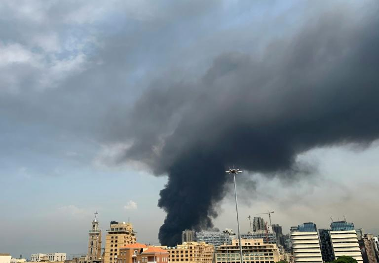 Huge fire at Beirut port weeks after deadly blast