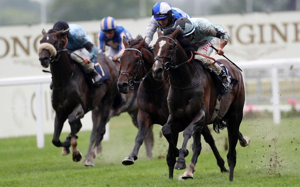 Alenquer ridden by Tom Marquand (right) wins the King Edward VII Stakes - PA