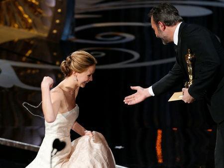 FILE PHOTO:    Jennifer Lawrence accepts the award for best actress at the 85th Academy Awards in Hollywood