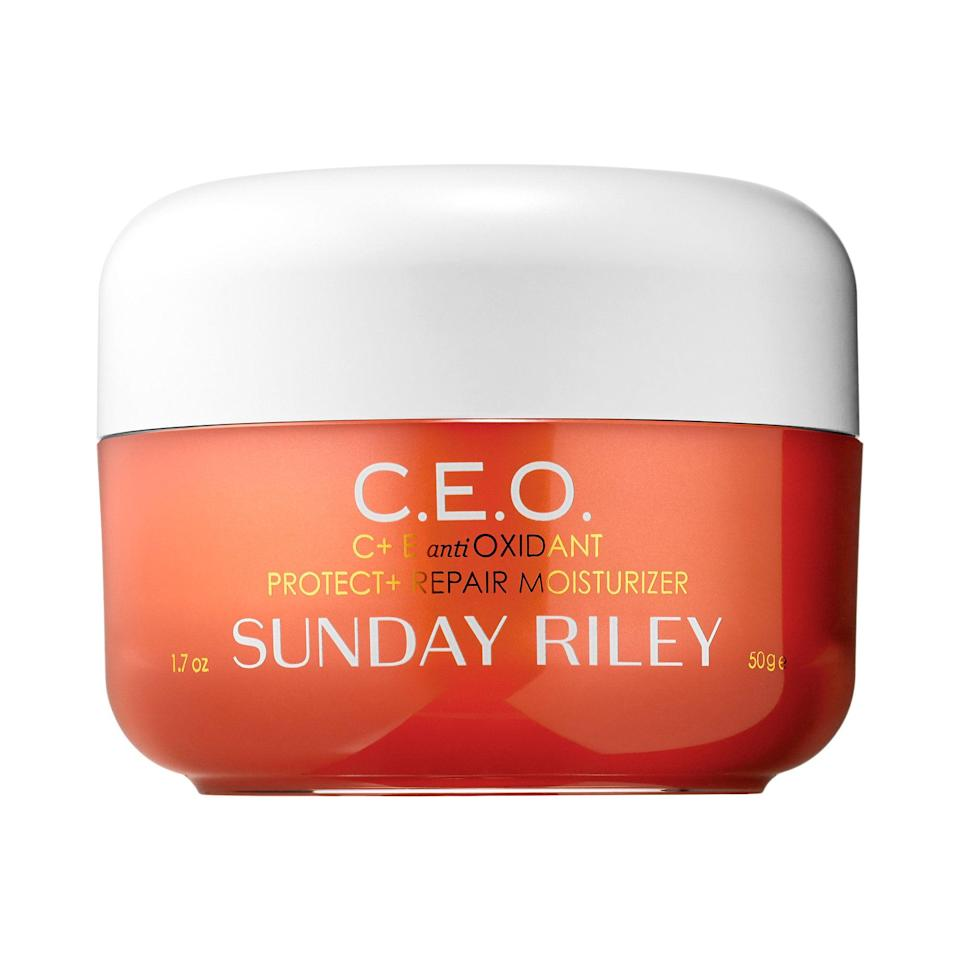 """<p>Give your skin-care routine the I-run-a-company makeover with <a href=""""https://www.allure.com/story/sunday-riley-ceo-moisturizer-launch?mbid=synd_yahoo_rss"""" rel=""""nofollow noopener"""" target=""""_blank"""" data-ylk=""""slk:Sunday Riley C.E.O."""" class=""""link rapid-noclick-resp"""">Sunday Riley C.E.O.</a>, a citrusy moisturizer that's packed with vitamin C and lime-pearl extract for the ultimate glow boost.</p> <p><strong>$65</strong> (<a href=""""https://shop-links.co/1650275868972006178"""" rel=""""nofollow noopener"""" target=""""_blank"""" data-ylk=""""slk:Shop Now"""" class=""""link rapid-noclick-resp"""">Shop Now</a>)</p>"""