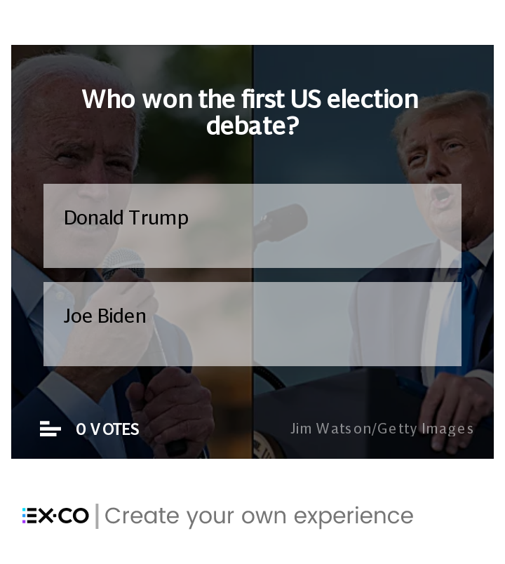 Who won the first US election debate? Poll