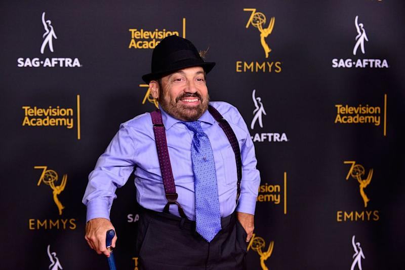 Danny Woodburn at a Television Academy and SAG-AFTRA event in Hollywood on September 11, 2018.