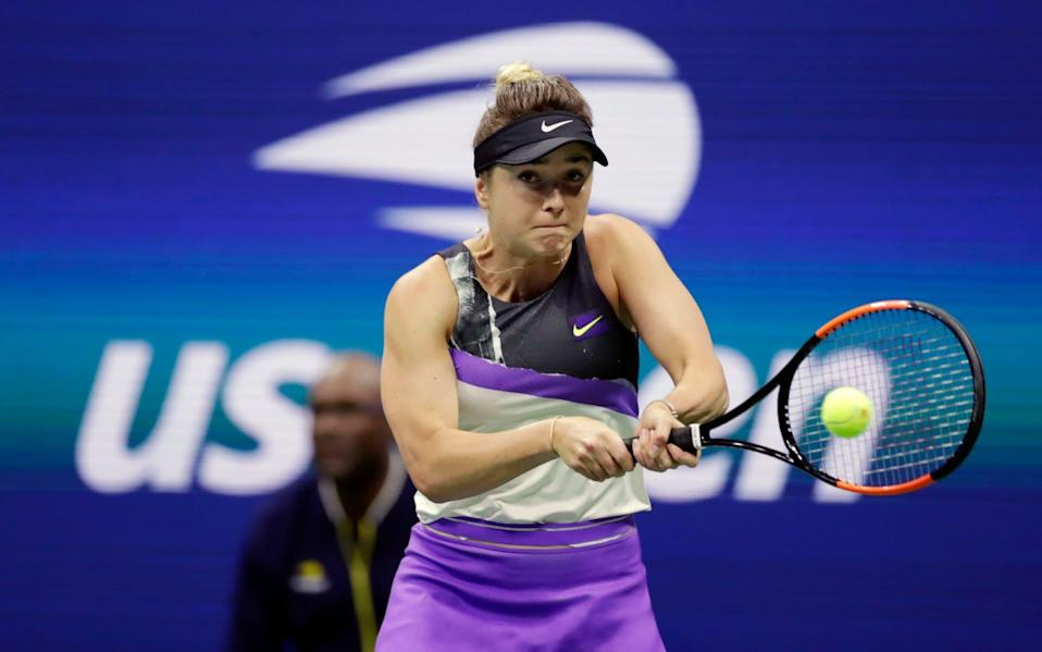 Elina Svitolina, of Ukraine, returns a shot to Serena Williams during the semifinals of the U.S. Open tennis championships in New York -Elina Svitolina and Kiki Bertens join growing list of US Open withdrawals - AP