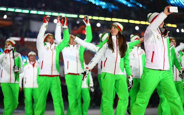 <p>It's a wonder if Bulgaria's outfits glow in the dark or not. We're a fan of bright colors, so we approved of the green-white-red combo, and especially the green left sleeves. They might not be for everybody, but we enjoyed them. </p>