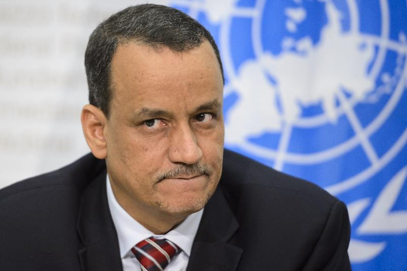 UN special envoy for Yemen, Ismail Ould Cheikh Ahmed, holds a press conference in Bern on December 20, 2015 (AFP Photo/Fabrice Coffrini)