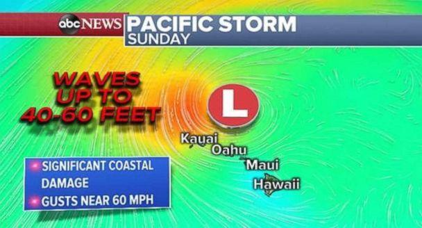 PHOTO: Hawaii could see waves up to 60 feet from the storm. (ABC News)