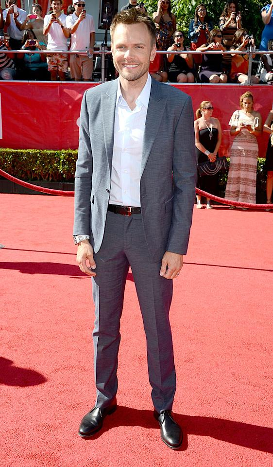 "Funnyman Joel McHale (""The Soup,"" ""Community"") arrives at the 2012 ESPY Awards."