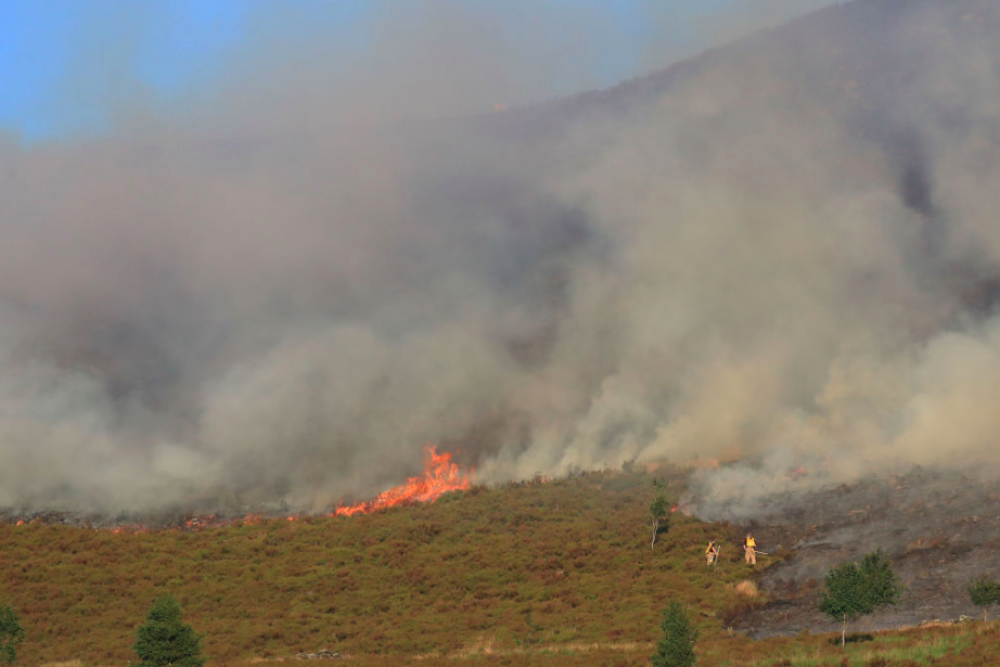 <em>Police say witnesses reported that people were lighting a bonfire on the moorland 50 minutes before the blaze was reported (Getty)</em>