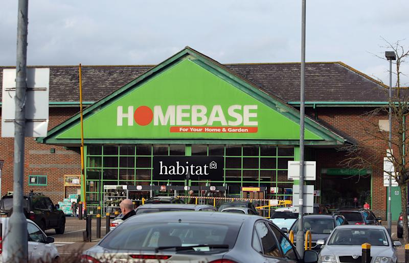 A general view of a Homebase store in Guildford, Surrey, as Argos owner Home Retail Group, which is being pursued by supermarket Sainsbury's, agreed to sell DIY chain Homebase to Australian conglomerate Wesfarmers for £340 million.