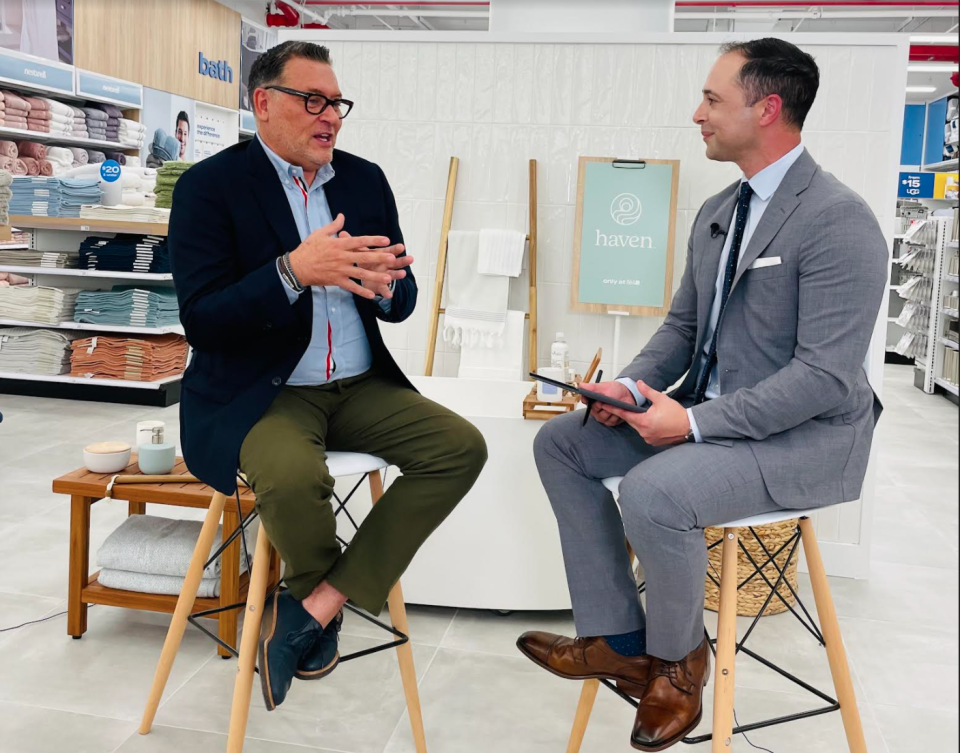 Bed Bath & Beyond CEO Mark Tritton talks with Yahoo Finance anchor Brian Sozzi inside the retailer's newly remodeled New York City flagship store.