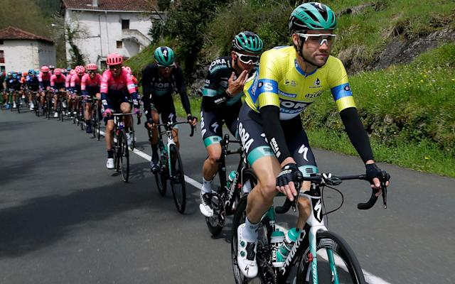 Race leaderMaximilian Schachmann won stage three at theTour of the Basque Country - 2019 Getty Images