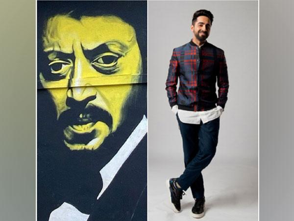 Mural of Irrfan and Ayushmann Khurrana (Image Source: Instagram)