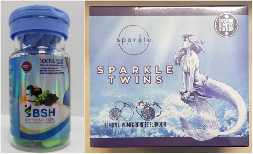"""""""Body Slim Herbal""""(left) and """"Sparkle Twins"""". (PHOTOS: HSA)"""