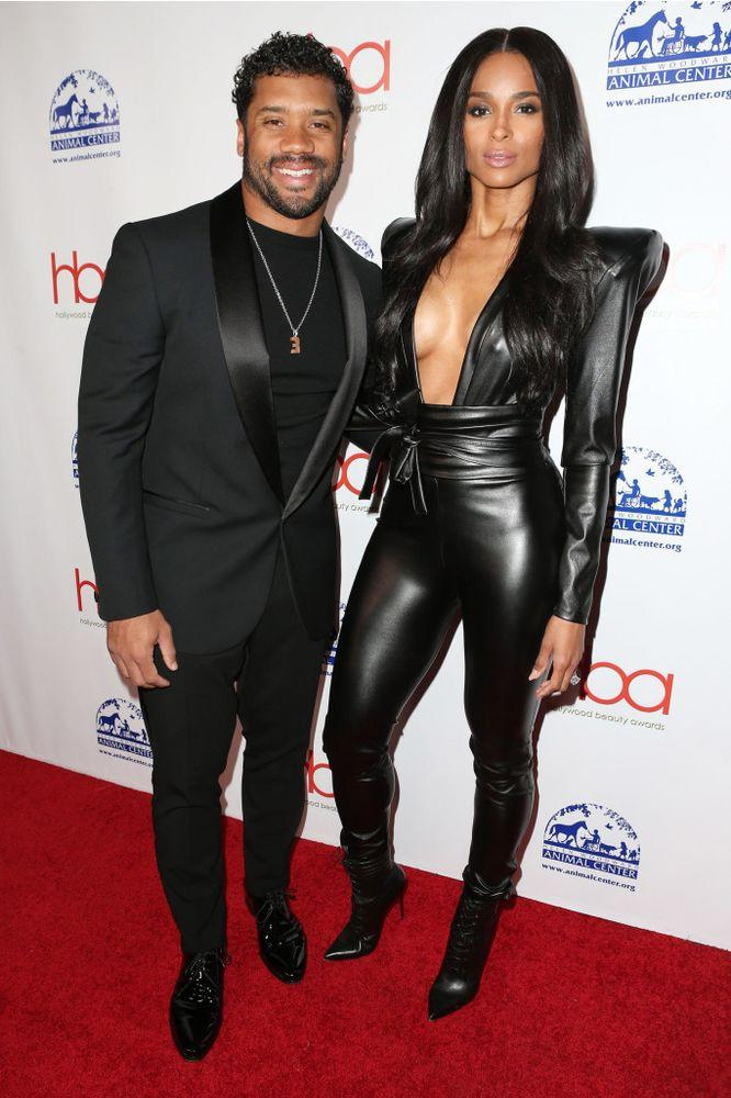 Russell Wilson and Ciara | Faye Sadou/MediaPunch