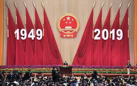 <span>Chinese President Xi Jinping speaks in advance of the anniversary</span> <span>Credit: KYODO NEWS/Naohiko Hatta - Pool/Getty Images </span>