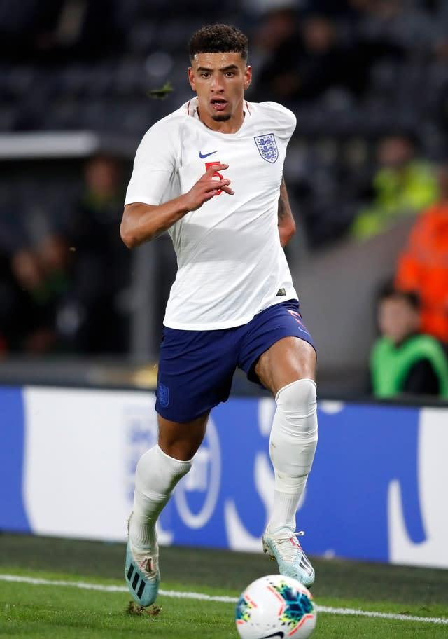 England's Ben Godfrey, seen here playing for England at under-21 level, could be leaving Norwich for Tottenham (Martin Rickett/PA)