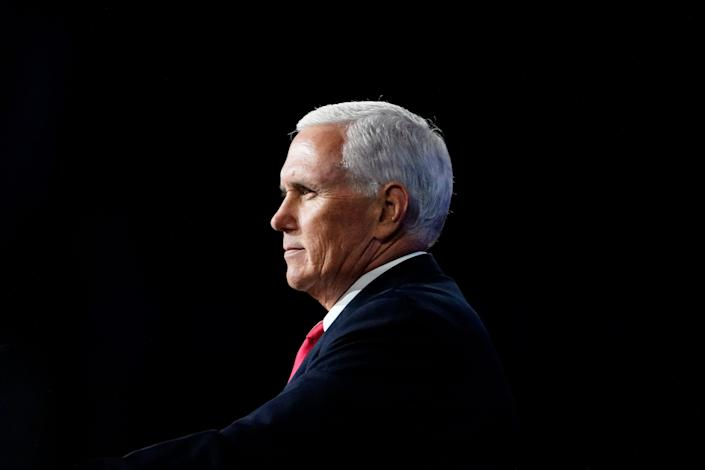 Vice President Mike Pence speaks during a Faith and Freedom Coalition policy conference on in Atlanta on Wednesday, Sept. 30, 2020. On Jan. 6, he will preside over the formal counting of Electoral College votes in his role as president of the Senate.