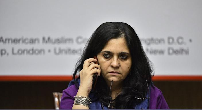 Teesta Setalvad (Photo by Anushree Fadnavis/Hindustan Times via Getty Images)
