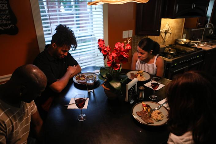 Omar Chatt and his family live in a better neighborhood than they did when he was growing up.