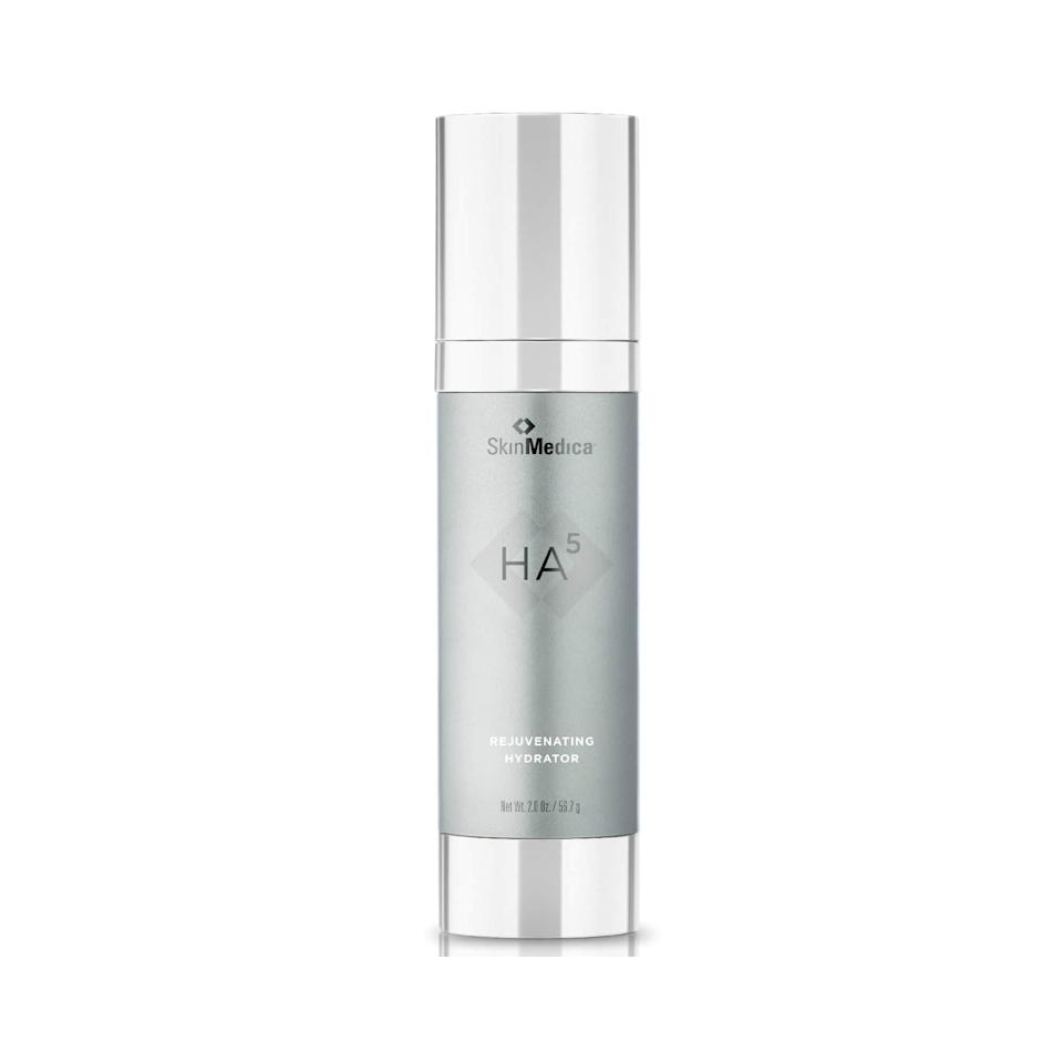 """""""Look for serums that are for sensitive skin and have hydrating ingredients, such as hyaluronic acid, <a href=""""https://www.allure.com/story/what-are-ceramides?mbid=synd_yahoo_rss"""" rel=""""nofollow noopener"""" target=""""_blank"""" data-ylk=""""slk:ceramides"""" class=""""link rapid-noclick-resp"""">ceramides</a>, and squalene,"""" says Engelman, who recommends SkinMedica's HA5 Rejuvenating Hydrator to patients because it has a gel-like consistency and five different types of hyaluronic acids. Fellow New York City board-certified dermatologist <a href=""""http://www.bhanusalimd.com/"""" rel=""""nofollow noopener"""" target=""""_blank"""" data-ylk=""""slk:Dhaval Bhanusali"""" class=""""link rapid-noclick-resp"""">Dhaval Bhanusali</a> has also come to love HA5 for dry skin, telling <em>Allure</em> it has a """"nice balance of hydrating without feeling heavy."""""""