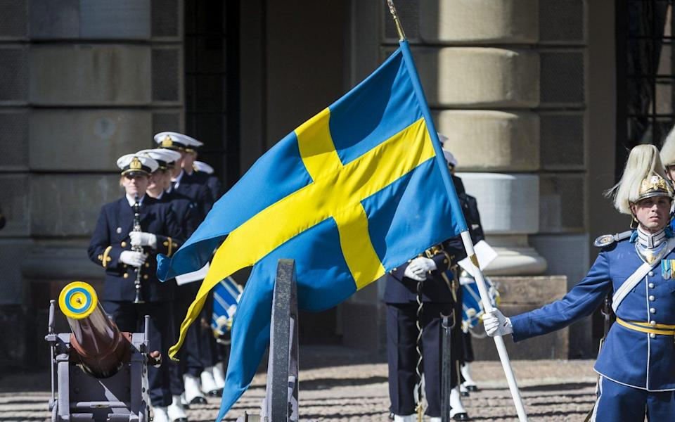 The Swedish flag is replaced by the Argentinian one on the website - Michael Campanella/Getty Images