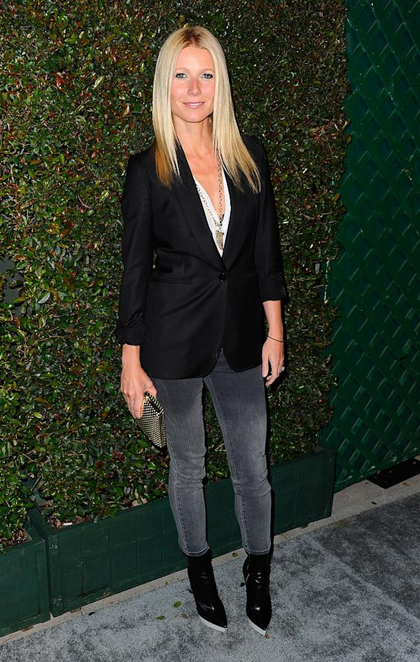 "Following in Stefani's footsteps was fellow fashionista Gwyneth Paltrow, who opted for a more casual look. While some of you may find the Oscar winner's ensemble <span style=""font-size:11.0pt; "">– </span>which featured a Stella McCartney blazer, ombre jeans, and pointy ankle boots <span style=""font-size:11.0pt; "">–</span> a bit too relaxed, we find it incredibly cute. Discuss. (4/13/2012)<br><br><a target=""_blank"" href=""http://bit.ly/lifeontheMlist"">Follow 2 Hot 2 Handle creator, Matt Whitfield, on Twitter!</a>"