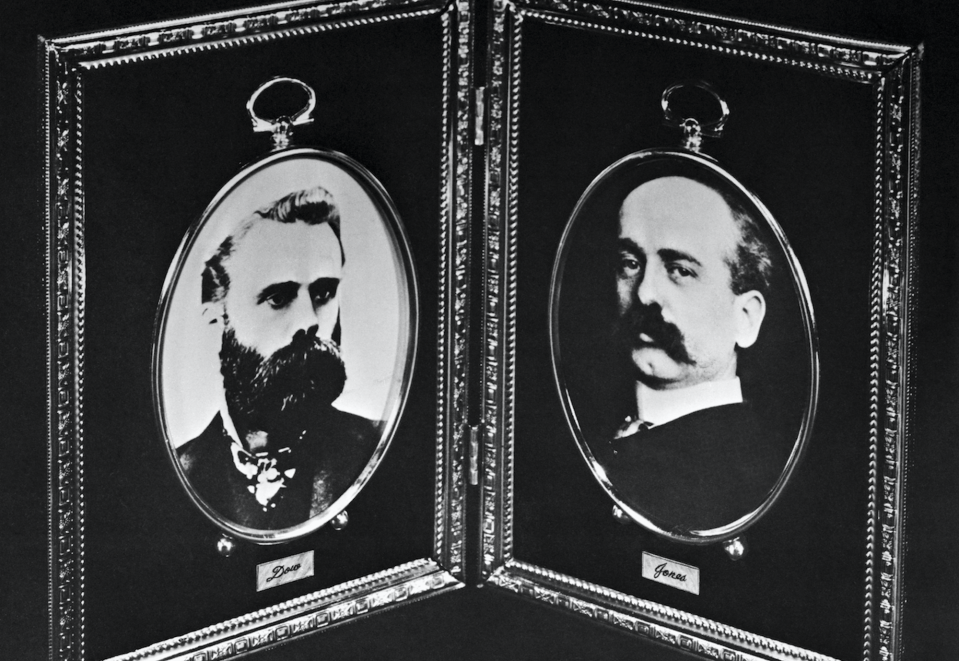 """Charles H. Dow and Edward T. Jones, founders of Dow Jones and Company, are the """"Dow"""" and """"Jones"""" in the Dow Jones Industrial Average. (Getty)"""