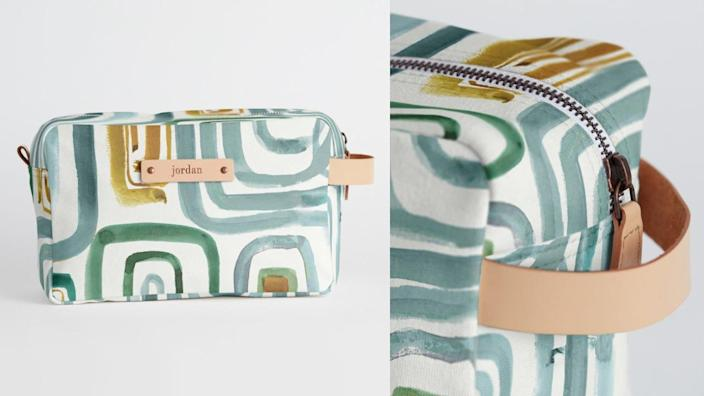 This dopp kit is the perfect little toiletry bag for travelers.