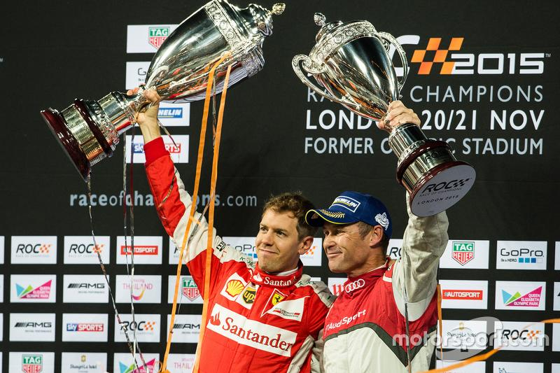 "Winner Sebastian Vettel, second place Tom Kristensen<span class=""copyright"">Jose Mario Dias</span>"
