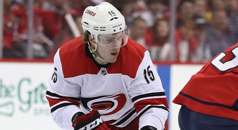 Aleksi Saarela does not look back at his time with the Carolina Hurricanes fondly. (Photo by Patrick Smith/Getty Images)