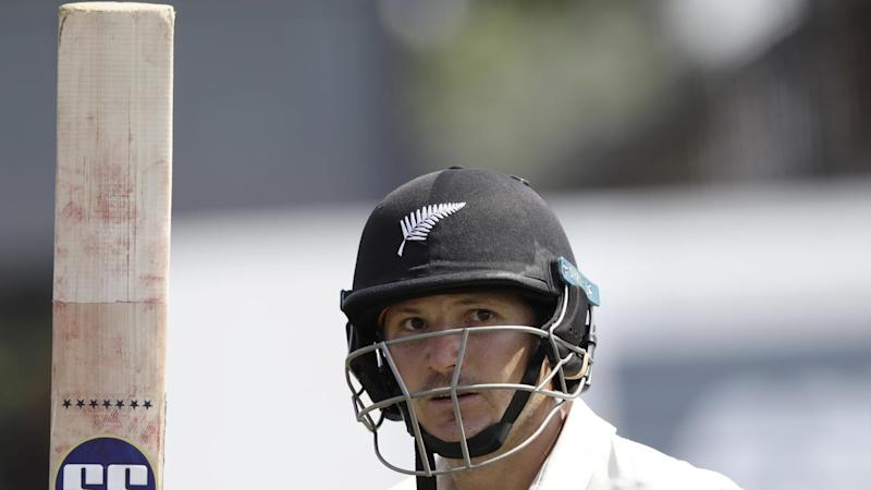 New Zealand's BJ Watling celebrates a double century in the first Test against England