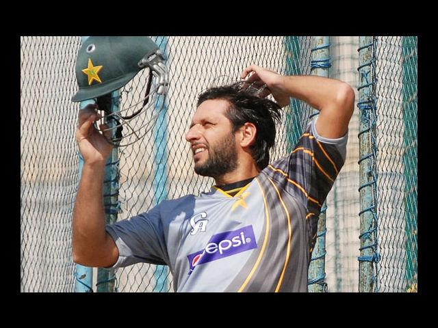 <b>9. Shahid Afridi</b><br>At 33, he is one of the most decorated, colourful players of Pakistan. The almost 6-foot tall all-rounder debuted at the age of 16, and now supports UNICEF for an anti-polio campaign in Waziristan.